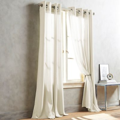 DKNY Cobble Hill 63-Inch Window Curtain Panel in Ivory