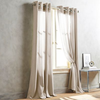 DKNY Cobble Hill 63-Inch Window Curtain Panel in Linen