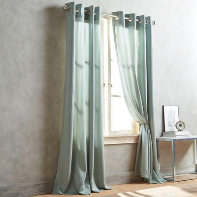 DKNY Cobble Hill 63-Inch Window Curtain Panel in Aqua