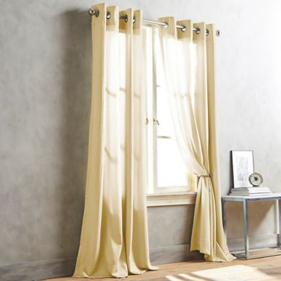 DKNY Cobble Hill 84-Inch Window Curtain Panel in Butter
