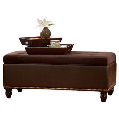Lafayette Storage Ottoman with Serving Trays