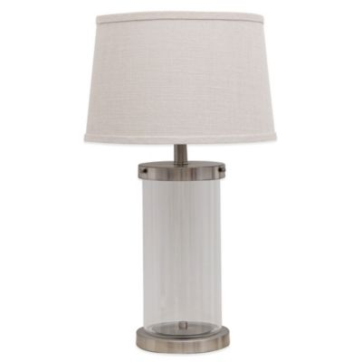 Fillable Glass Table Lamp with CFL Bulb