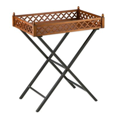 Bombay® Newbury Tray Table in Brown/Black