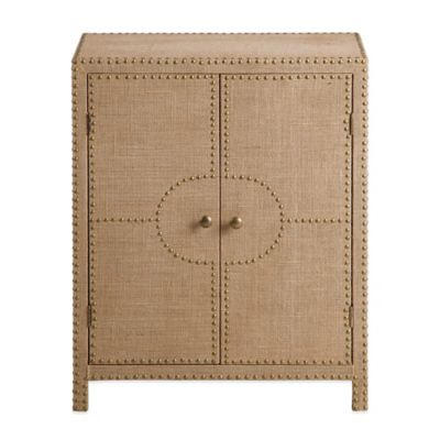 Bombay® Coleman Nail Head Cabinet in Linen