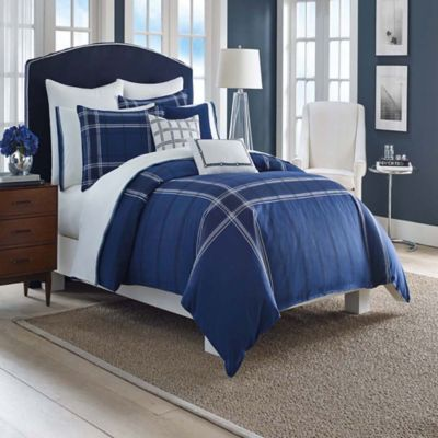 Nautica® Haverdale Full/Queen Duvet Cover Set in Navy