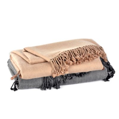 Cashmere Throw in Sand