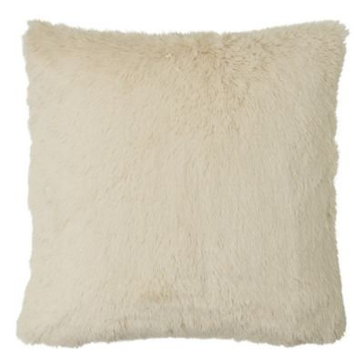 MYOP Polar Fur Square Throw Pillow Cover in Cream