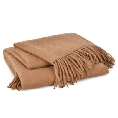 Berkshire Alpaca Throw in Chestnut