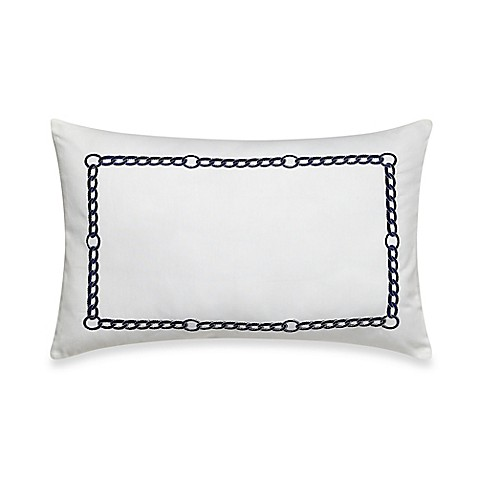 Nautica Decorative Pillows Navy : Buy Nautica Haverdale Breakfast Throw Pillow in Navy from Bed Bath & Beyond
