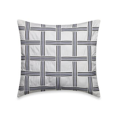 Nautica® Haverdale Square Throw Pillow in Navy