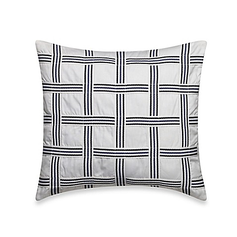 Nautica Decorative Pillows Navy : Nautica Haverdale Square Throw Pillow in Navy - Bed Bath & Beyond