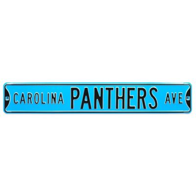 NFL Carolina Panthers Steel Street Sign
