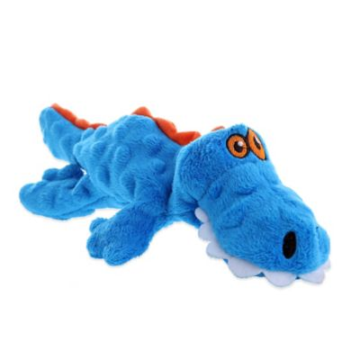 GoDog Small Gator Dog Toy in Blue
