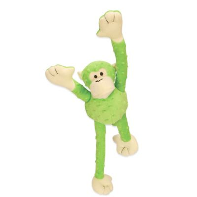 GoDog Large Crazy Tugz Monkey Dog Toy in Lime