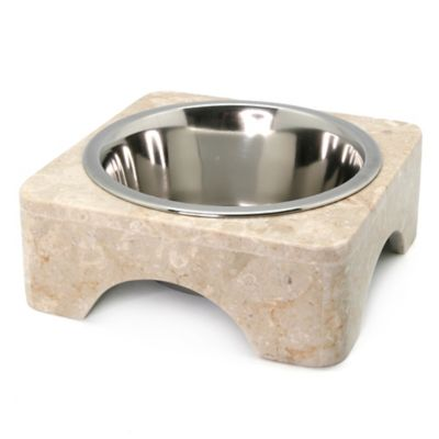 Marble 1 qt. Pet Bowl Set