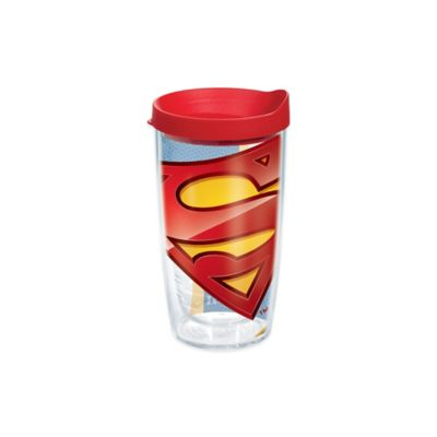 Superman Wrap 16 oz Tumbler with Lid