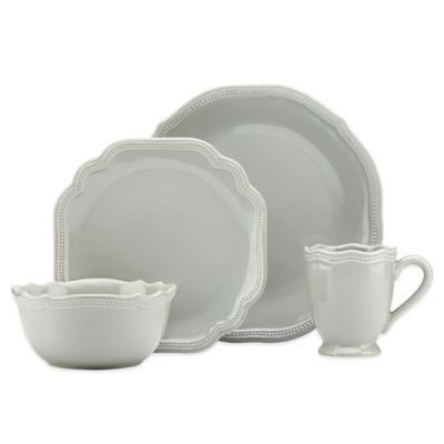 Lenox® French Perle Bead 4-Piece Place Setting in Grey