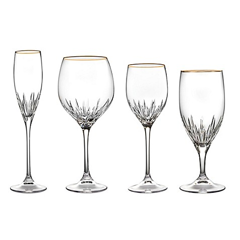 Vera wang wedgwood duchesse gold stemware bed bath beyond for Vera wang duchesse wine glasses