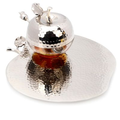 Rosh Hashanah Honey Dish with Spoon