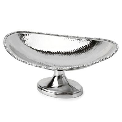 Classic Touch Hammmered Stainless Steel Centerpiece Bowl