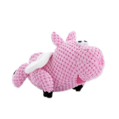 Go Dog Checkers Flying Pig Large Chew Toy