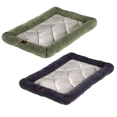 Deluxe Micro Sherpa Small Bumper Bed in Sage