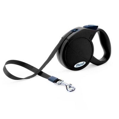 Flexi Durabelt 10-Foot Extra-Small Retractable Dog Leash in Black