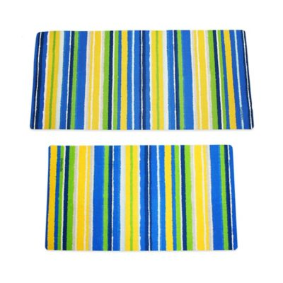 Large Dog Bath & Grooming Mat in Stripes