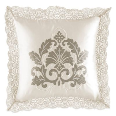 Waterford® Linens Colleen Beaded Square Throw Pillow