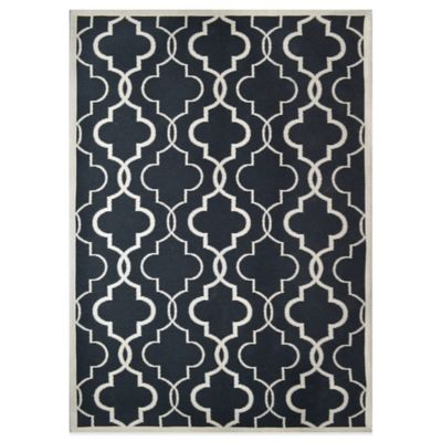 Renault Indoor/Outdoor 5-Foot x 7-Foot Tapestry Area Rug in Indigo