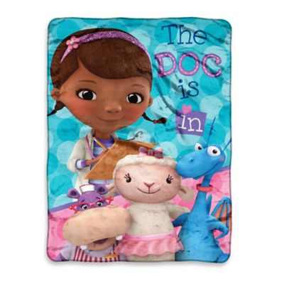 Doc McStuffins We Care Together Micro-Raschel Throw