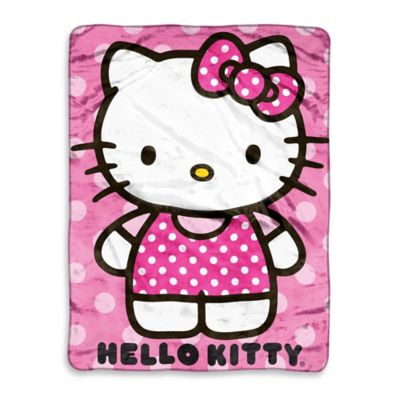 Hello Kitty Dot Micro-Raschel Throw