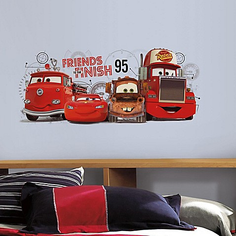 RoomMates Disney Pixar Cars 2 Friends to the Finish Peel and Stick Wall Decals - www ...