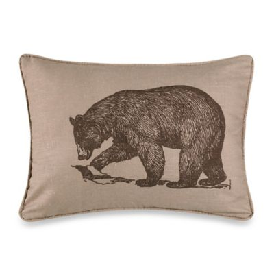 HiEnd Accents Briarfield Walking Bear Oblong Throw Pillow