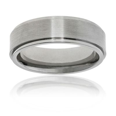 Fiero Brushed Titanium Size 7.5 Men's Wedding Band