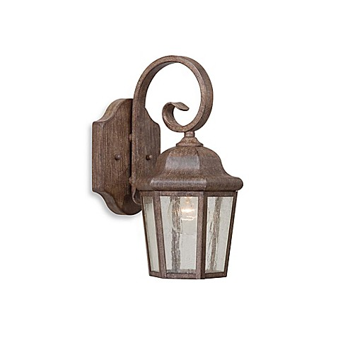 Minka Lavery® Small Seedy Glass Outdoor Lantern