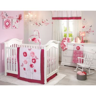 NoJo® Butterfly Bouquet 4-Piece Crib Bedding Set
