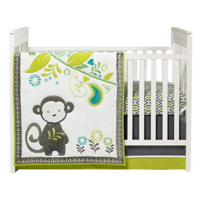 Jonathan Adler Safari Monkey 4-Piece Comforter Set