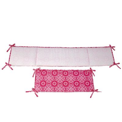 NoJo® Butterfly Bouquet 4-Piece Crib Bumper