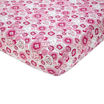 NoJo® Butterfly Bouquet Fitted Crib Sheet