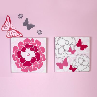 NoJo® Butterfly Bouquet 2-Piece Canvas Wall Décor