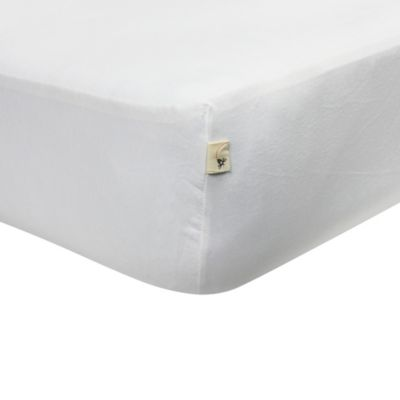 Burt's Bees Baby® 100% Organic Cotton Jersey Fitted Crib Sheet in Cloud