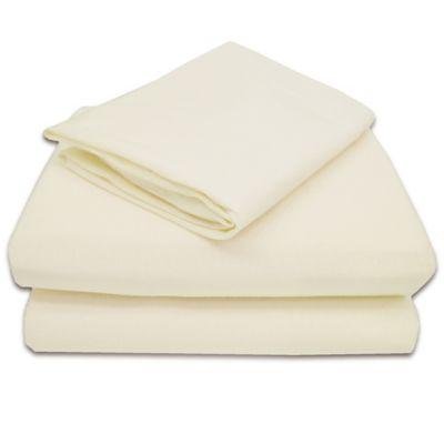 TL Care® 100% Cotton Jersey 3-Piece Toddler Sheet Set in Ecru