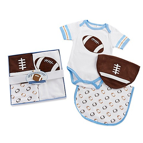 Buy baby aspen tiny touchdown 3 piece football themed for Tiny 3 piece bathroom