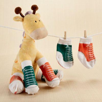 Baby Aspen Herbie in Hightops Plush Giraffe and Socks Gift Set
