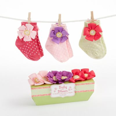Baby Aspen 3-Pair Baby in Bloom Sock Gift Set