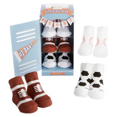 Baby Aspen 3-Pair Little All Star Sock Gift Set