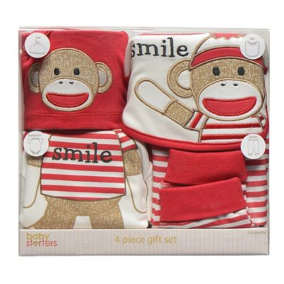 Baby Starters® 4-Piece Sock Monkey Apparel Gift Set