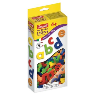 Quercetti 40-Piece Lowercase Magnetic Letters Set