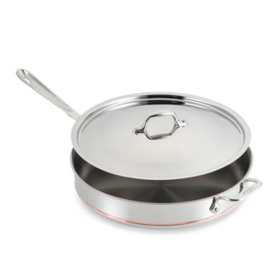 All-Clad Copper Core 6-Quart Covered Saute Pan
